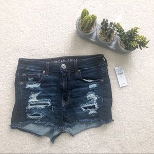 American Eagle | Distressed Jean Shorts